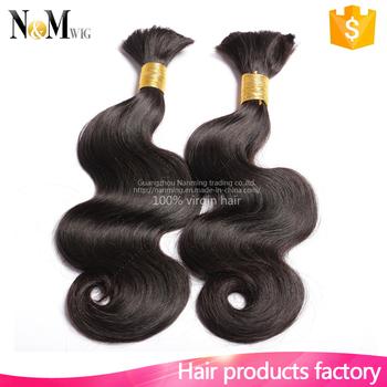 New Product Body Wave Pre Braided Hair For Micro Braids Brazilian Bulk Whole