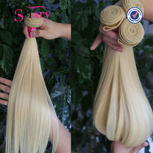 Wholesale 100% european remy sew in human hair extensions blonde human hair weave