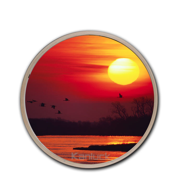 Sunset Photographic Picture Printed Round Art