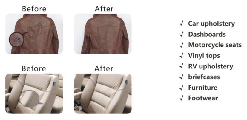 Leather Vinyl Repair Kit Fix Rips Burns Holes Car Boat