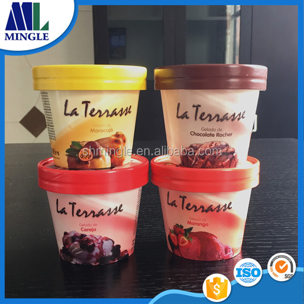 7oz 200MLFood grade ice cream paper tub with paper lid