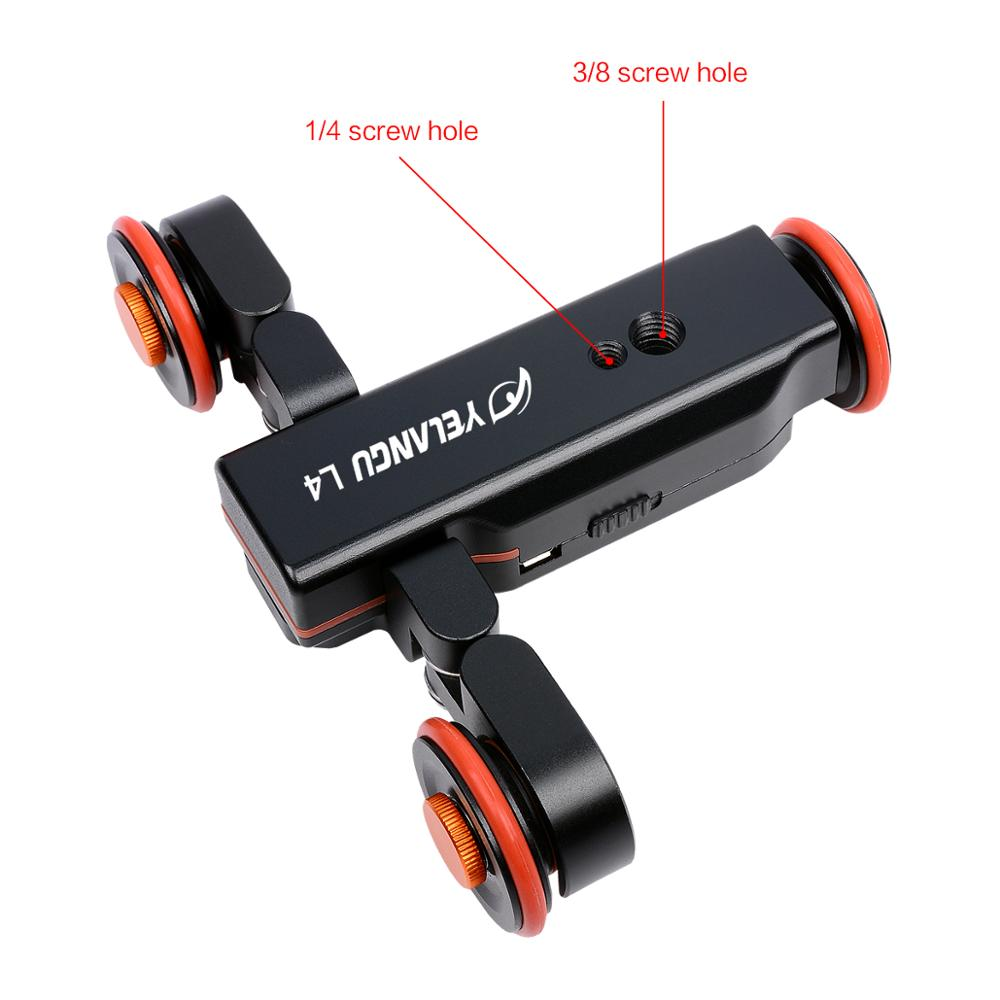 YELANGU Black L4 Camera Motorized Autodolly Car for Dslr Camera And Smartphone