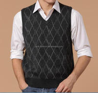 mens classic argyle intarsia knitting sweater vests