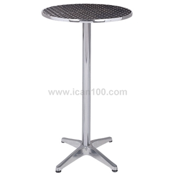 Genial Round Durable Stainless Steel Top Cocktail Tables Stand Up Bar Tables (DT 06172R)