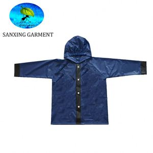 kids pvc/polyester children raincoat price