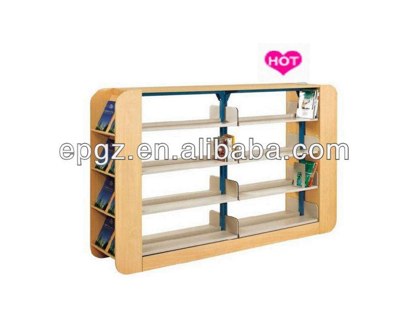 la biblioteca de la escuela media marco de acero libro estanteria de madera exterior estanteria