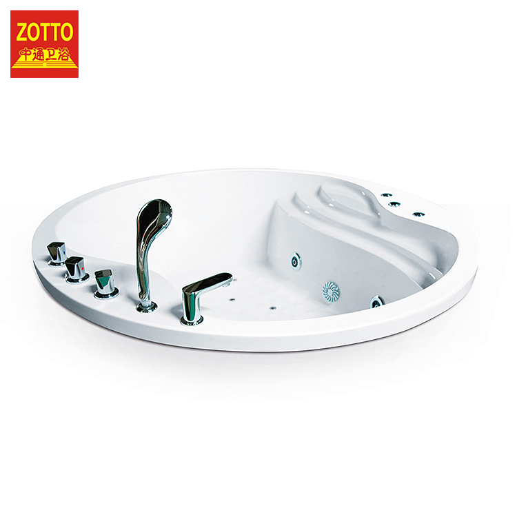Factory supply indoor luxury built-in acrylic two person soaking bath tub whirlpool massage hot tubs modern bathtub