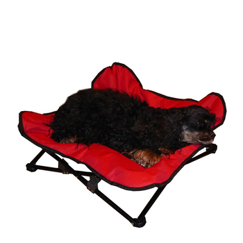 Large outdoor luxury carefresh complete elevated folding pet bed dog