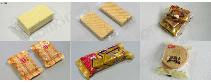 Automatic Multi-function Biscuit Chocolate Cookie Flow Wrapper Horizontal Wrapping Machine
