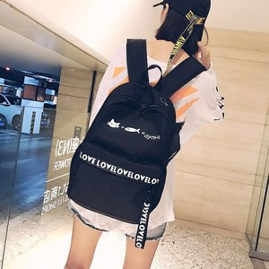 Harajuku ulzzang hit color tide forest personality cute small fresh waterproof super light backpack