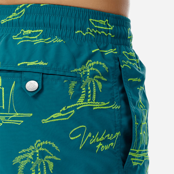 custom floral all over printed men swimwear shorts