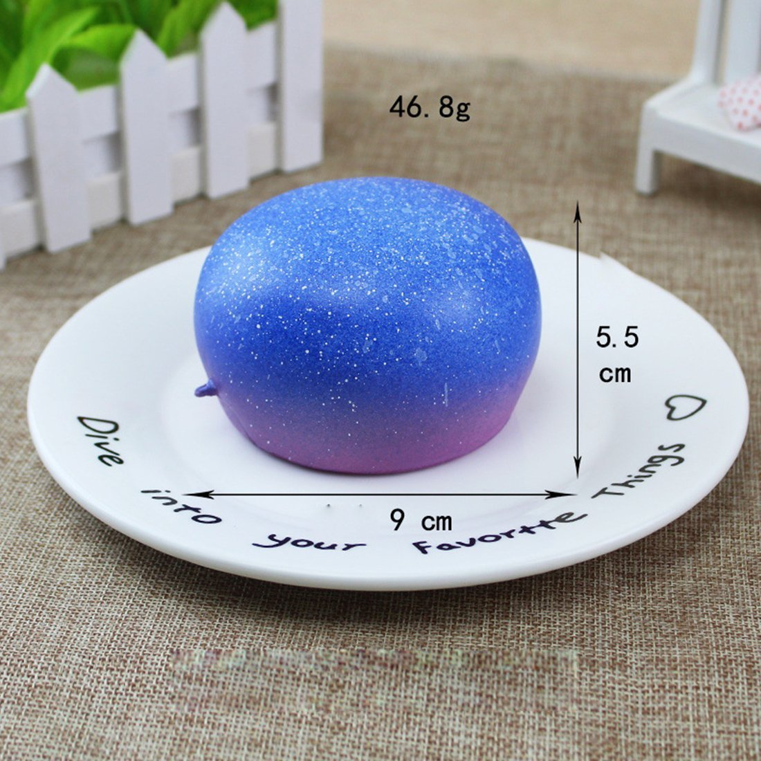 Decompression Toys, Zubita Simulation of Food Decompression Squeeze Toys Steamed?Bun with Starry Sky Charms Slow Rebound Stress Relief Toys for Kids and Adults