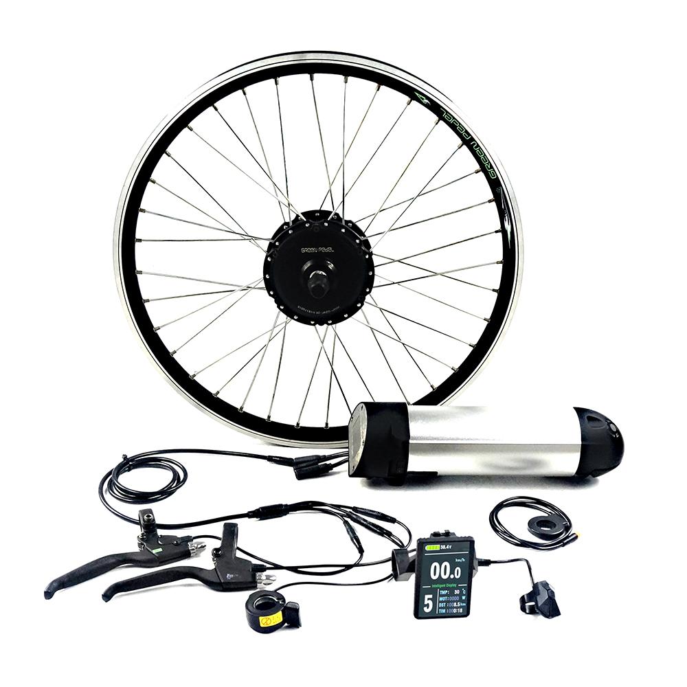 GreenPedel europe standard 36v 250w 350w electric bicycle motor electric wheel hub motor conversion kit, Black+silver