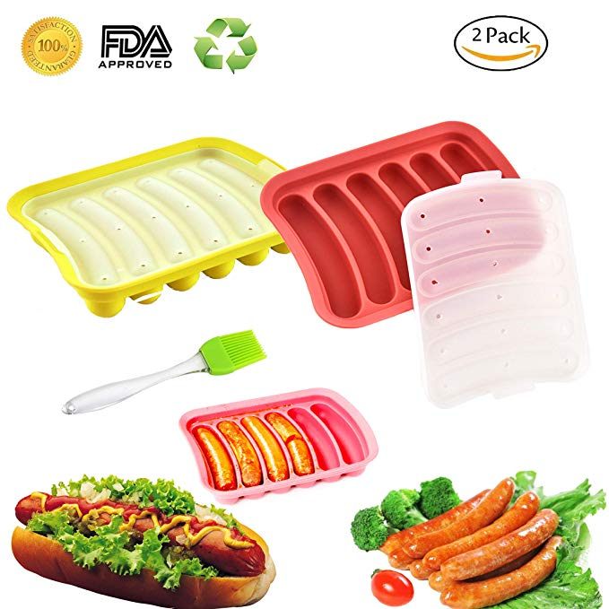 Silicone Sausage hot dog Mold for ice cube and  baking cake