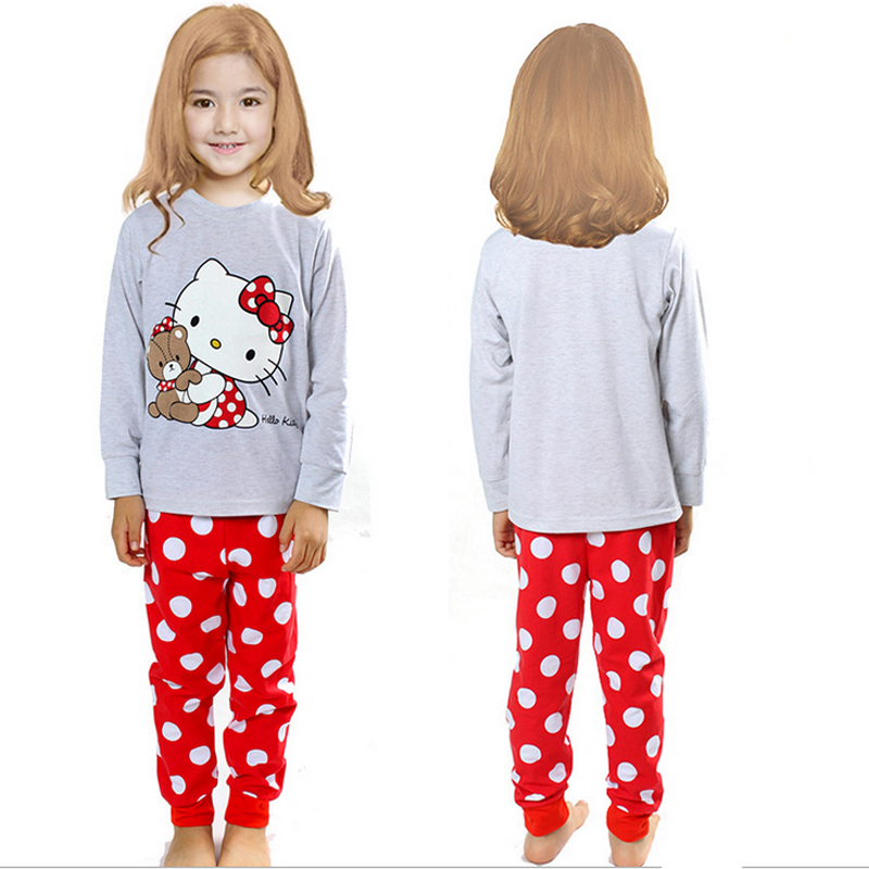 1b8728066c Get Quotations · Children s Pajamas 1set top+pant retail baby boy sets  autumn cat pajamas clothes kids clothes