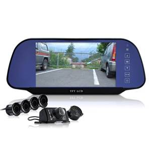 Car Reversing Set with Parking Sensors,Rearview camera and rearview Mirror