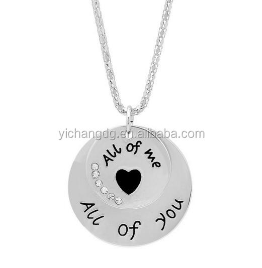Women's 18k White Gold Plated Pendant- Express Your Love