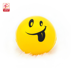 Wholesale face PU emoji ball 6.3cm Squeeze emoji Ball Smile Face Hand Wrist Exercise Stress Relief Toy for kids