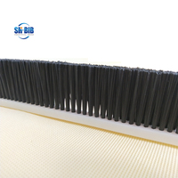 plastic pvc base nylon bristle filled brush strip manufacturer