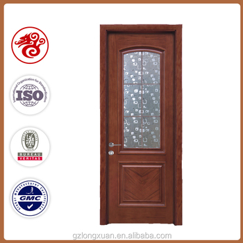 Decorative Gl Insert Wood Interior Door Give A Allure To Your Room