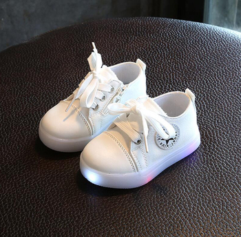Unisex Kids Canvas Casual Shoes Children LED Flashing Light Shoes