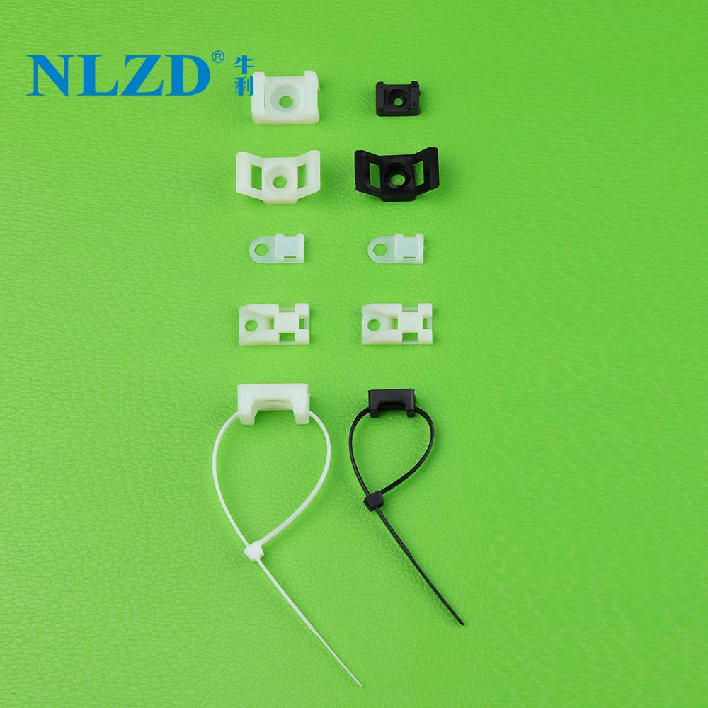 Plastic nylon cable tie mount base