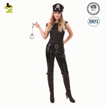 Halloween fashion party sexy tight leather police officer costume for women  sc 1 st  Alibaba : police costume for women  - Germanpascual.Com