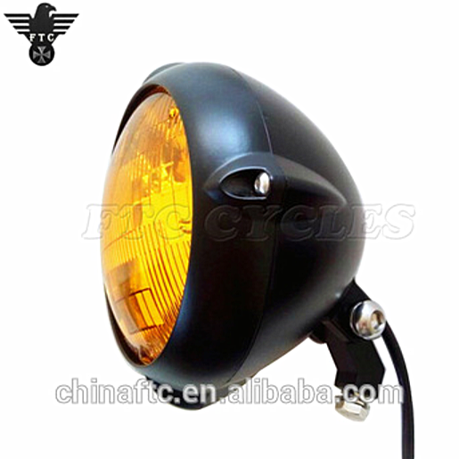 "Motorcycle 4.5/"" Vintage Front Aluminum Headlight For Harley Old School Yamaha"