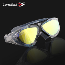 Guangzhou wholesale sports fashion silicone adult mirror anti fog safety swimming goggles