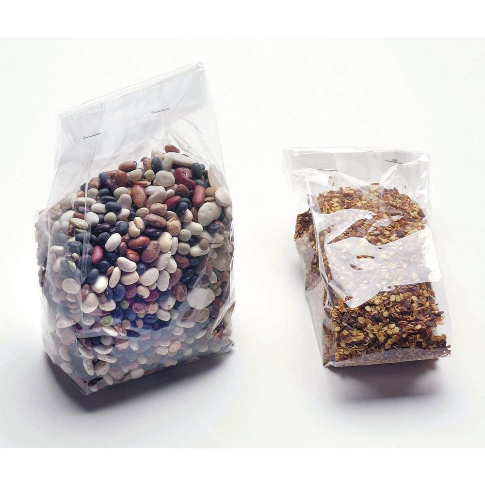 """Plastic Bag For Cookies Candy With Side Gusset Clear 1.2 mil BOPP Film - 5"""" L x 3"""" D x 11 1/2 H 100 Per Case"""