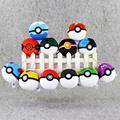 1Pcs 7cm Pokeball Master Ball GS Plush Toy Keychain Poke Ball Soft Stuffed Dolls Keyrings Kids