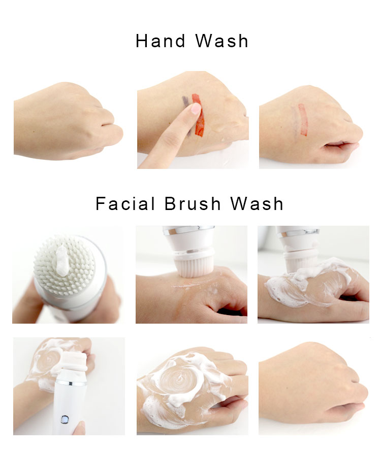 Factory wholesale electric rechargeable waterproof deep facial cleansing brush for face wash exfoliating massager skin care