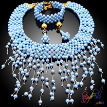 Indian bridal pearl necklace jewellery sets bridal kundan necklace set