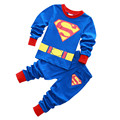 2016 Brand New long sleeve Cartoon pajamas Kids Baby Girls Pajamas Set Spring Autumn Sleepwear Children