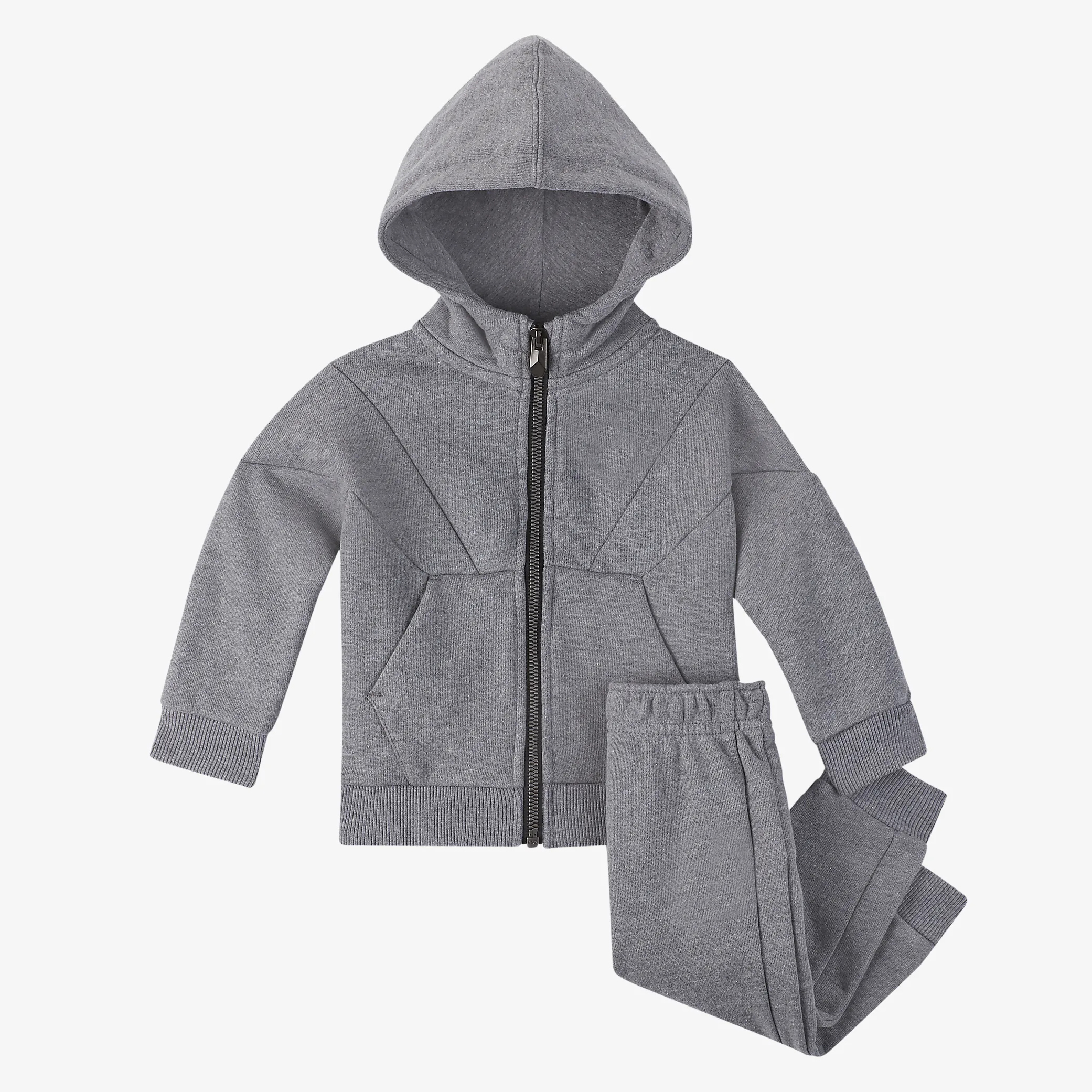 Kids clothing set high quality blank fleece terry hoodie and jogger pants 2pcs set clothing baby boys clothes
