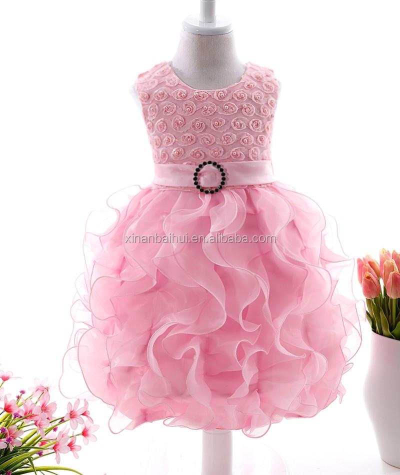 Purple Pearl Girls Princess Party Dress High-grade Wedding Dress ...