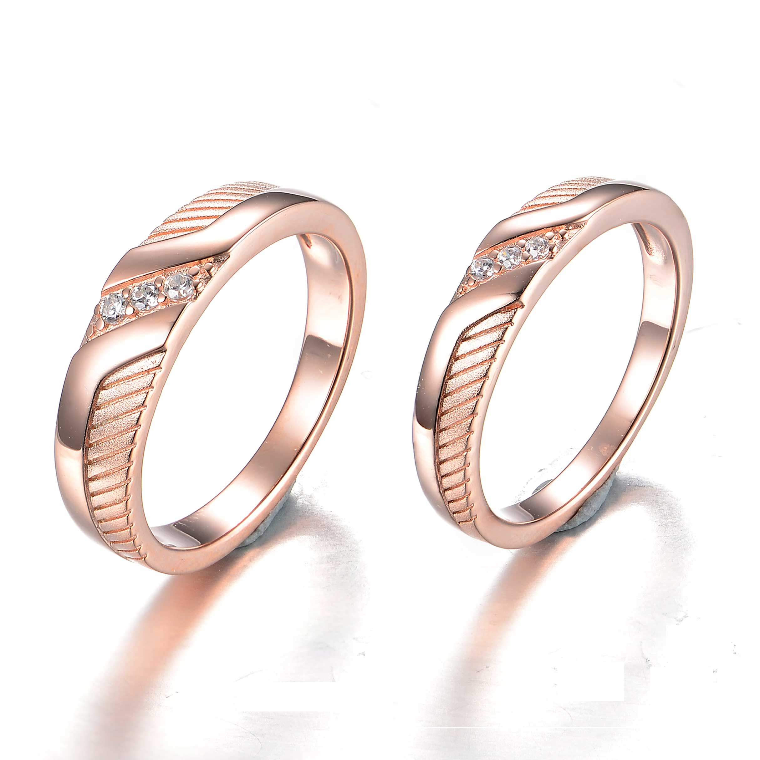 49eed63526 Fashion Women Wedding Ring Silver Rose Gold Plating Couple Ring Jewelry  Engagement Ring, View ring, lovans Product Details from Guangzhou Lovans  Jewelry Co. ...