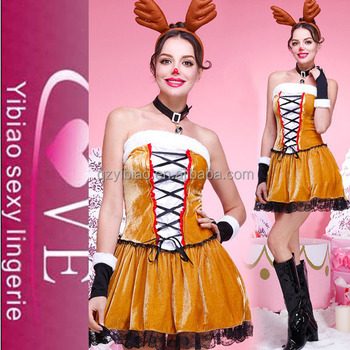 Fancy Boutique Mini Dress Reindeer School Girls Sexy Christmas Costume  sc 1 st  Alibaba : girls reindeer costume  - Germanpascual.Com