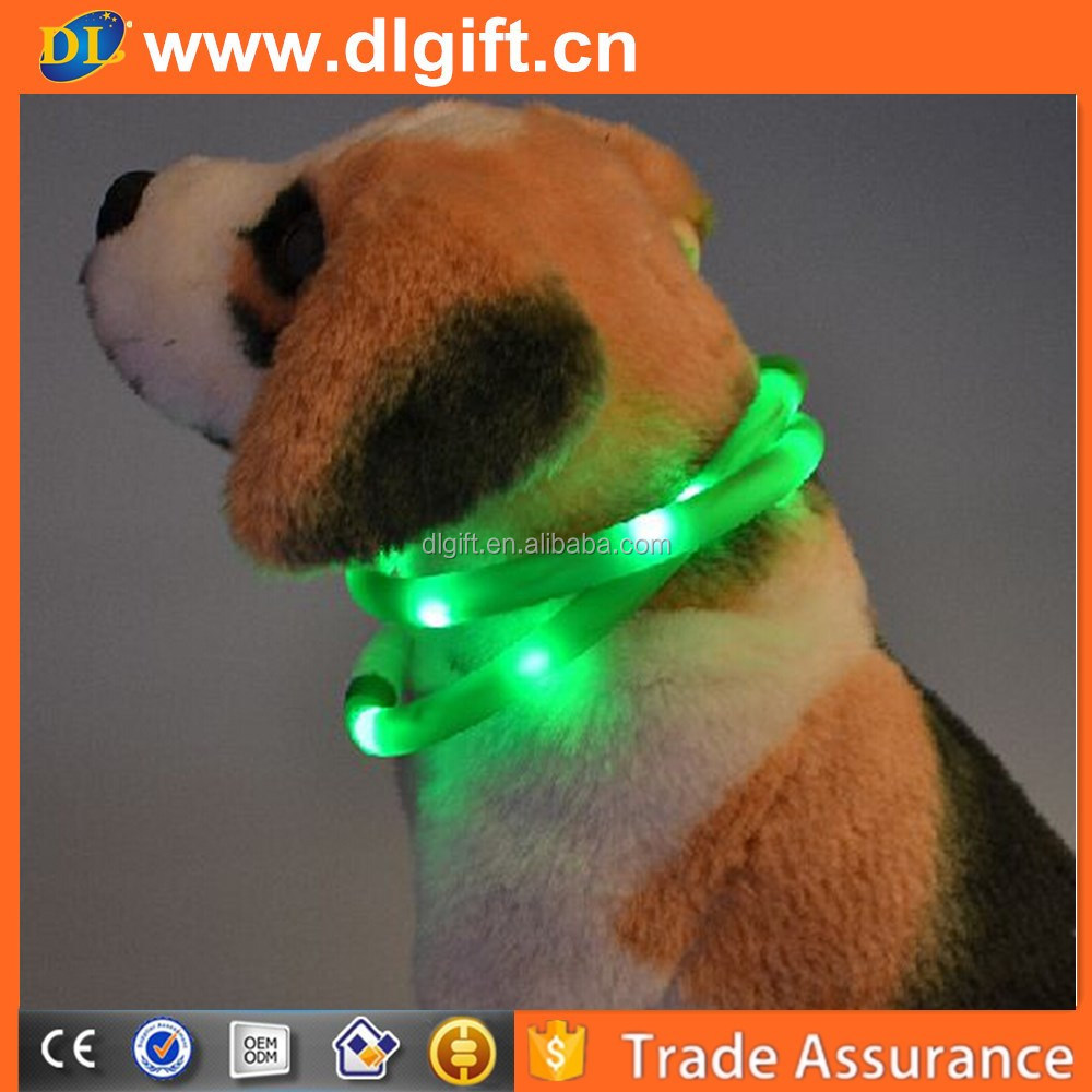 Arrived HighQuality Puppy Lovely Style LED Silicone Dog Collar