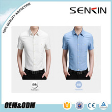 Fashion comfortable formal one pockets cotton blank short sleeve high quality office mens dress shirt