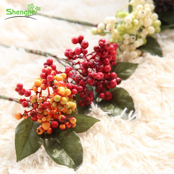 Multi colors artificial decorative christmas red berry brunch picks