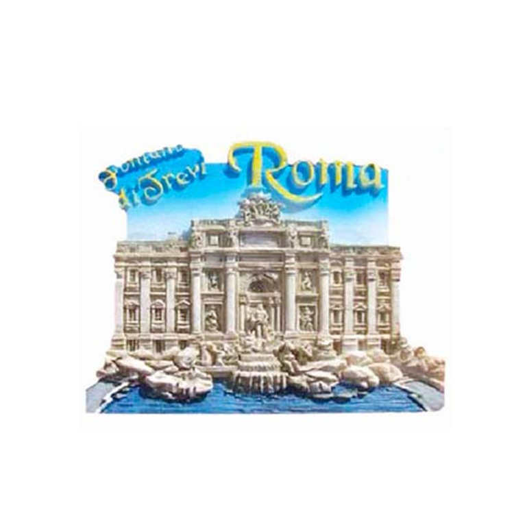 Wholesale resin magnet fridge 3d city building fridge magnet