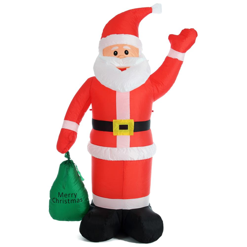 6ft Christmas Inflatable Santa Claus With Gift Bag Yard Garden ...