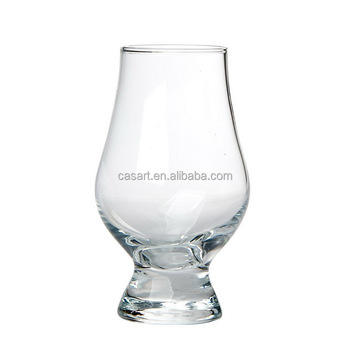 Casart Hot Sale Tulip Shaped Thick Stem Wine Glass, Short Stem Wine Glass