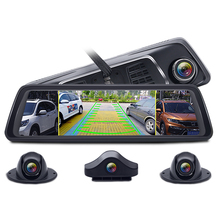 "4 canali Auto <span class=keywords><strong>DVR</strong></span> Media Specchietto retrovisore 10 ""4G <span class=keywords><strong>Android</strong></span> 8 Core MTK6753 ADAS Full HD 1080 P video Macchina Fotografica del Registratore"