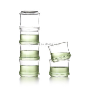 Stackable Special Shape High Borosilicate 70ml Bamboo Glass Cup