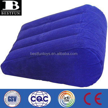 Factory Customized Promotional Flocking Inflatable Wedge Pillow