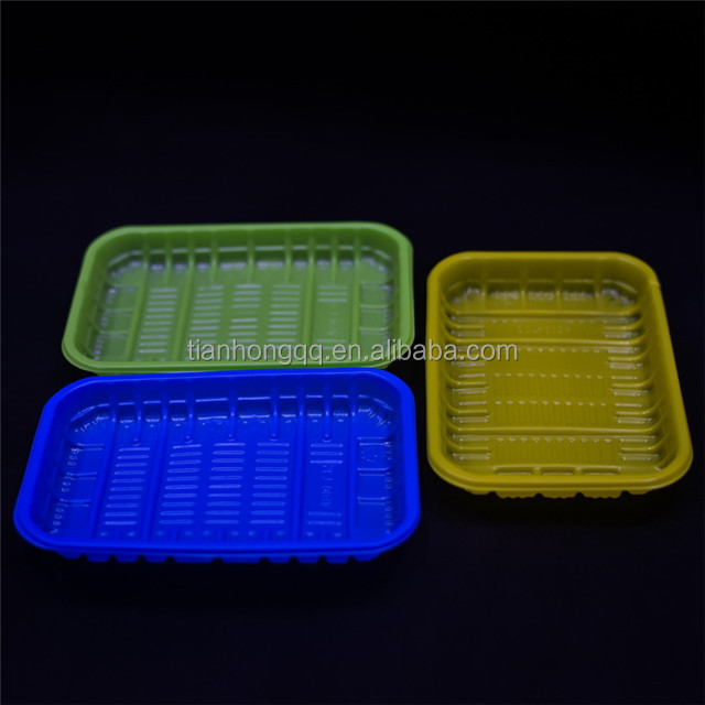 Disposable food plastic tray,Food Grade fruit chicken plastic meat tray,PP