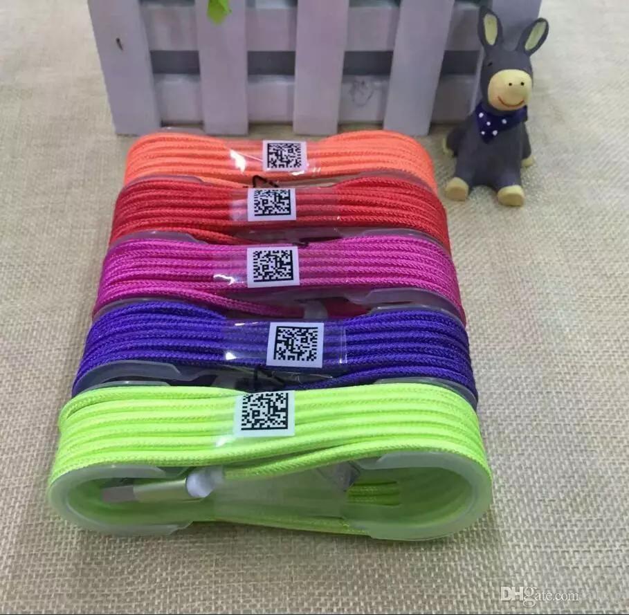 1,5 м длинные сильный плетеный кабель для зарядки USB Кабель зарядного устройства для Android и iPhone