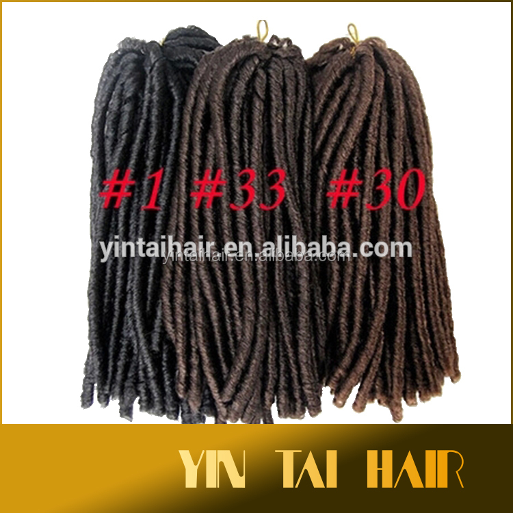 2016 new product synthetic hair extension darling twist hair braids soft dread lock hard different color dread locks braids